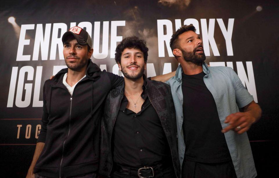 Ricky Martin, Enrique Iglesias y Sebastián Yatra,