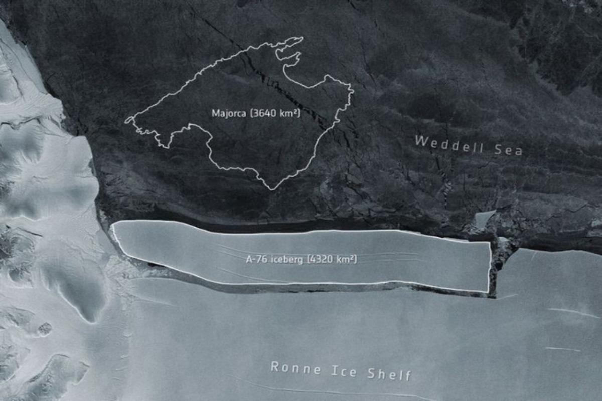 Se desprende iceberg más grande del mundo en la Antártida: ESA