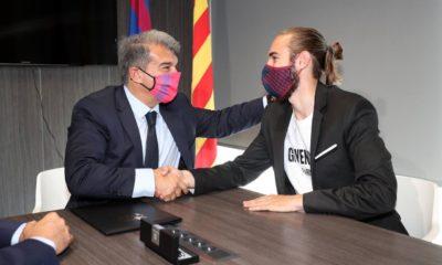 Laporta confía en que Barcelona conquistará el título de LaLiga. Foto: Twitter