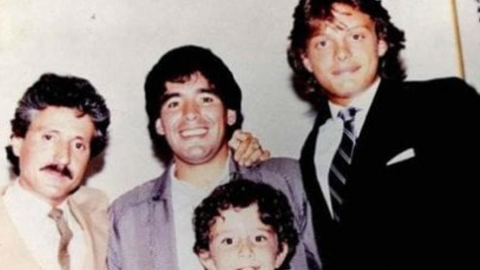 Luis Miguel con Maradona. Foto: Twitter