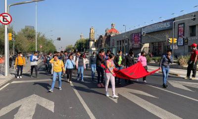 Normalistas de Mactumatzá marchan en CDMX; exigen liberación de compañeros