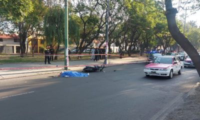 Motociclista perdió la vida tras derrape. Foto: Israel Lorenzana