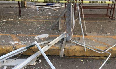 Hicieron explotar un cajero. Foto: Israel Lorenzana
