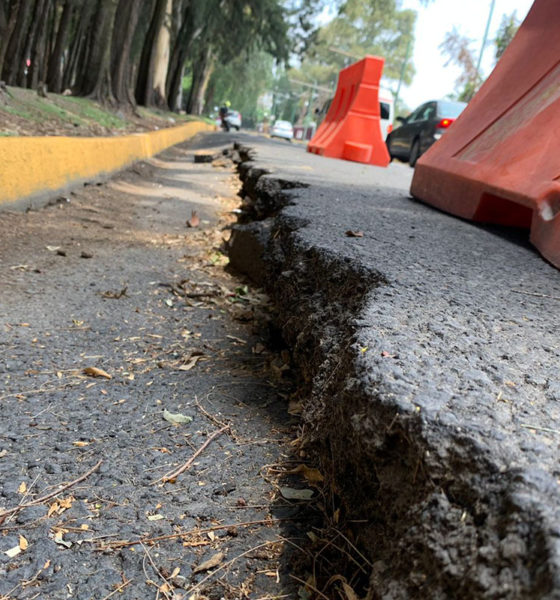 Se abren grietas en avenidas de la CDMX