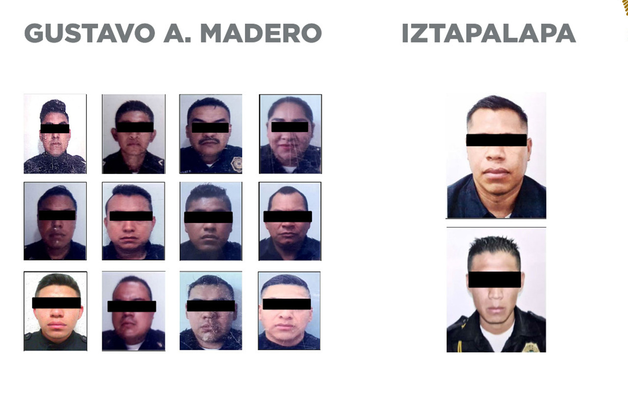 Detienen a 14 policías de CDMX por extorsión y robo