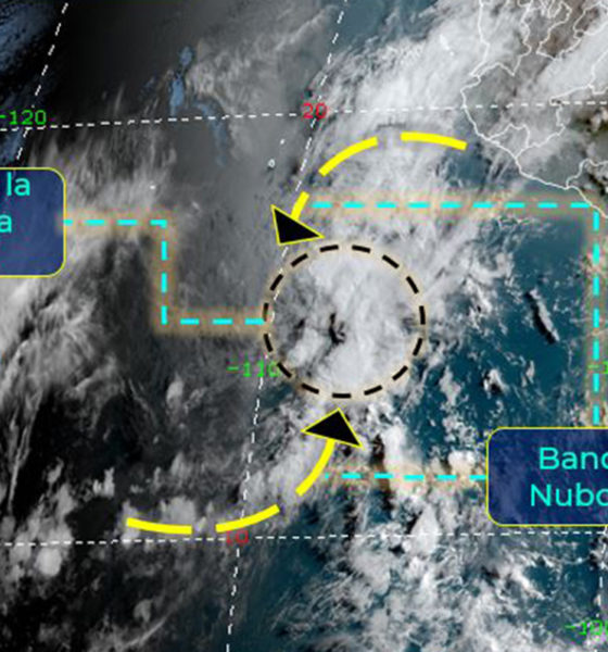 Tormenta Tropical Andrés se localiza a 650 km de Playa Pérula, Jalisco