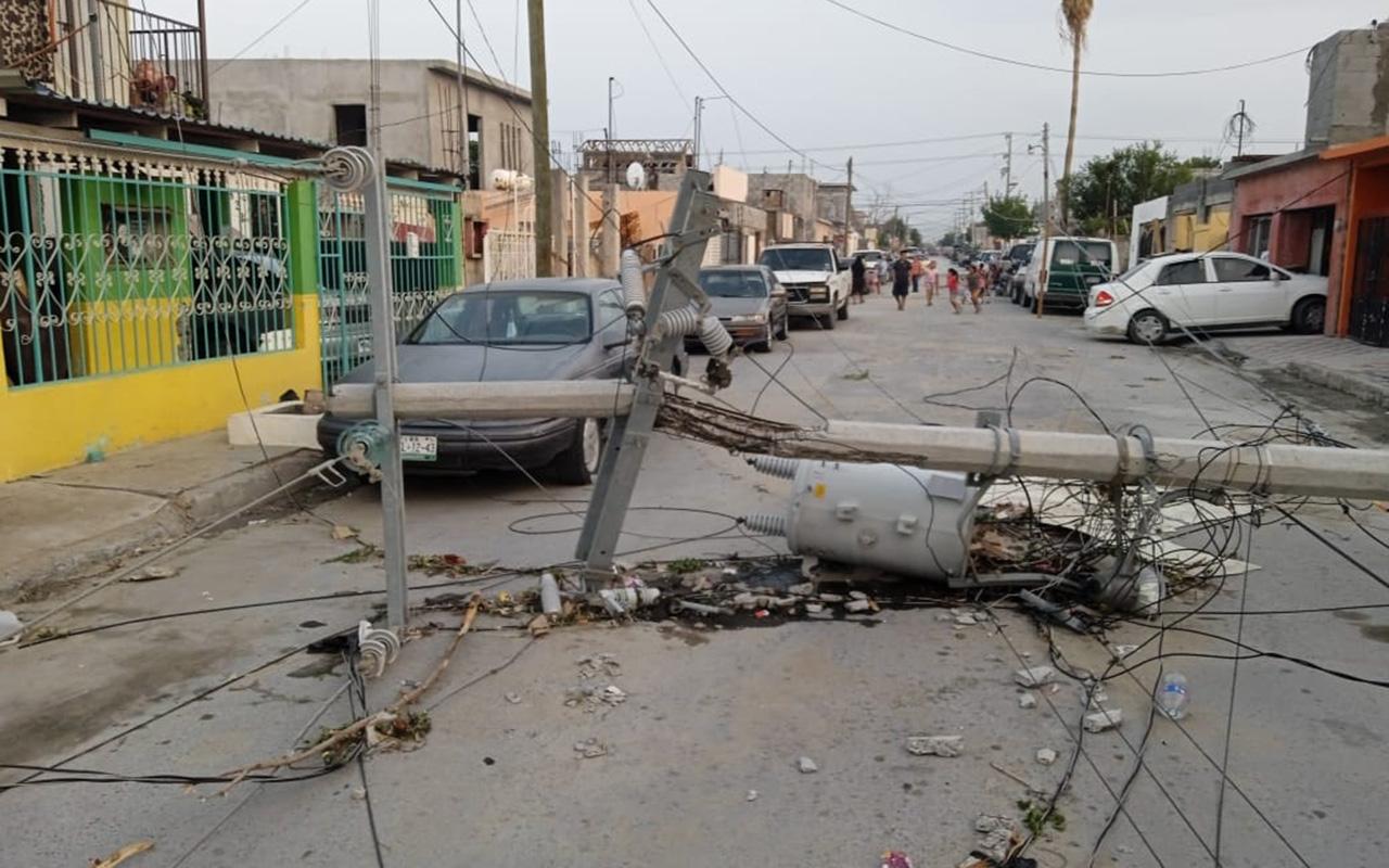 Vientos dejan sin luz a municipios de Tamaulipas, SLP, Veracruz e Hidalgo
