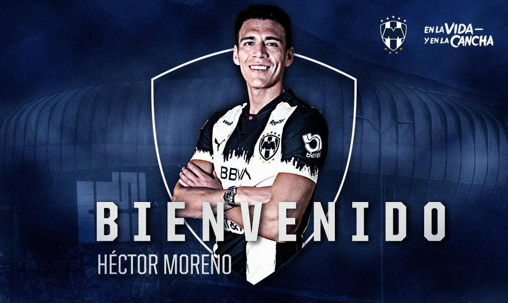 Héctor Moreno llega a Monterrey. Foto: Twitter