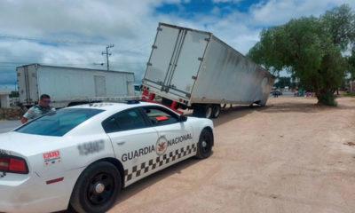 Recuperan camión con siete millones balas robadas en Guanajuato