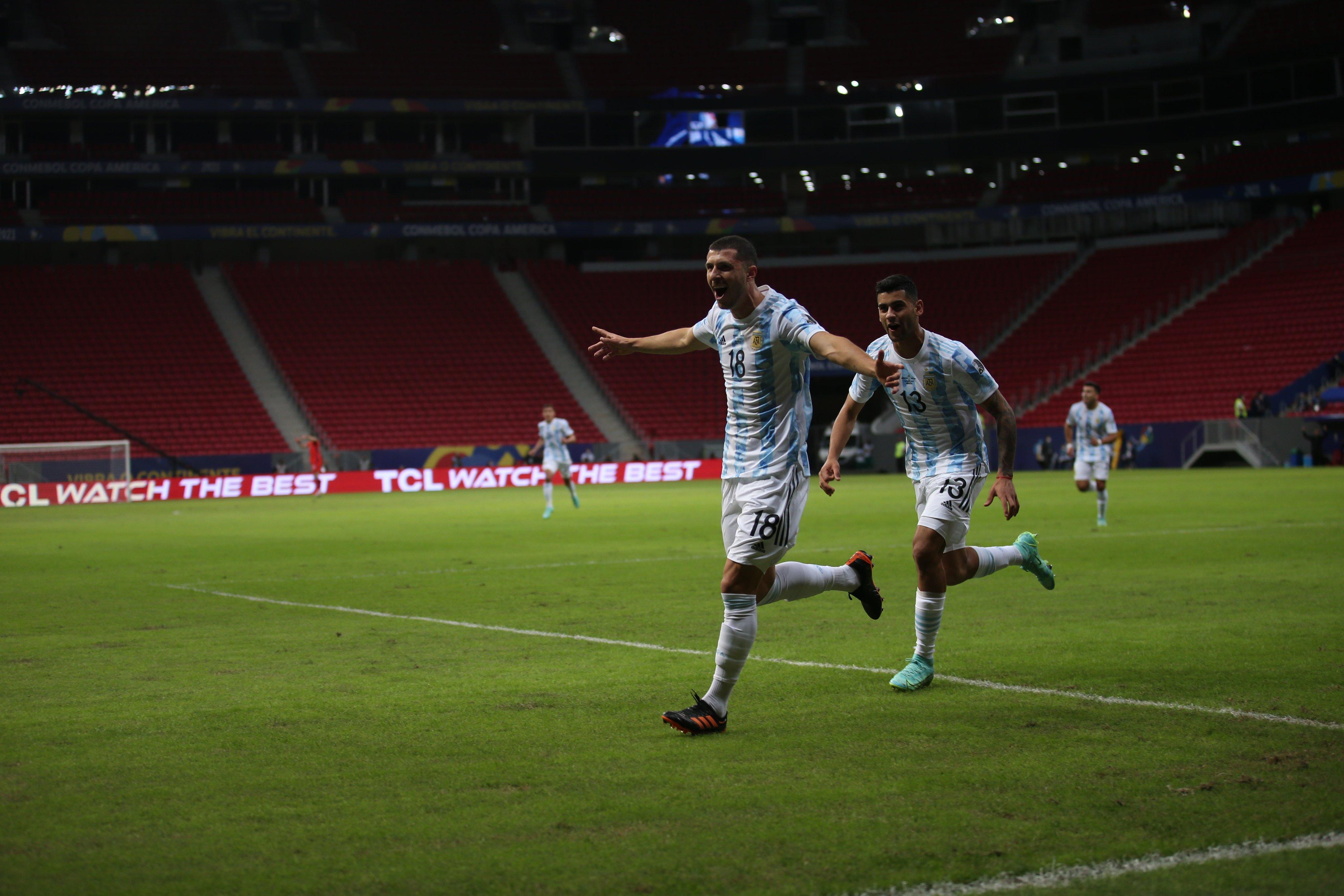 Argentina y Chile líderes de la Copa América. Foto: Twitter