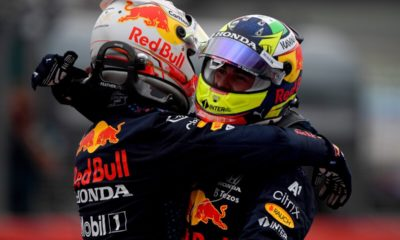 Checo Pérez y Verstappen. Foto: Twitter