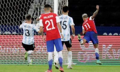 Chile no pudo contra Argentina. Foto: Twitter Copa América