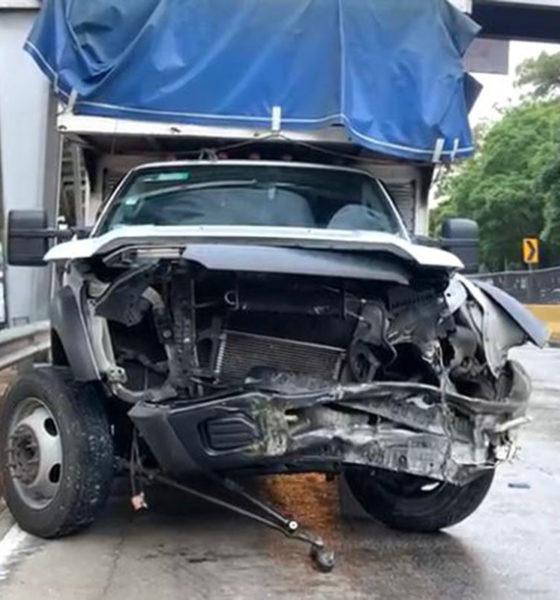 Choque múltiple en Circuito Interior deja una persona lesionada