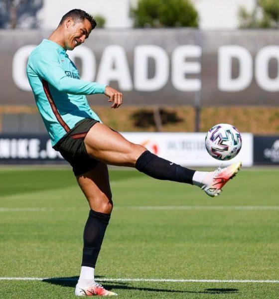 Cristiano Ronaldo motivado. Foto: Twitter