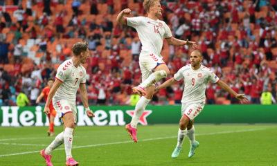 Dinamarca a los cuartos de final de la Eurocopa. Foto: Twitter