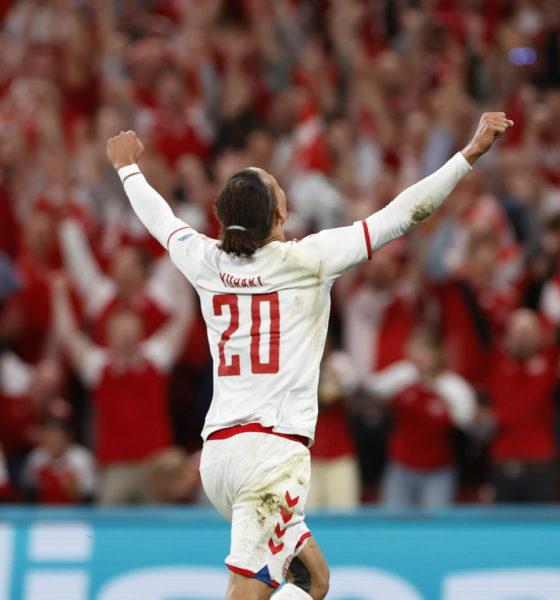 Dinamarca avanzó en la Eurocopa. Foto: Twitter