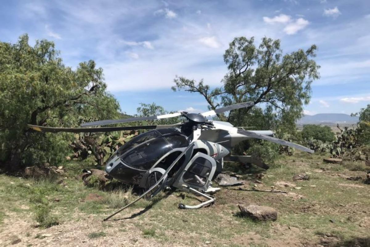 Helicóptero de la FAM aterriza de emergencia en Edomex; no hay lesionados