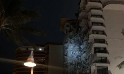 Edificio colapsó en Miami. Foto: @AlertaNews24