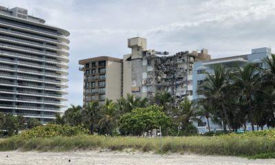 Edificio que colapsó en Miami. Foto: Twitter @afigue2010