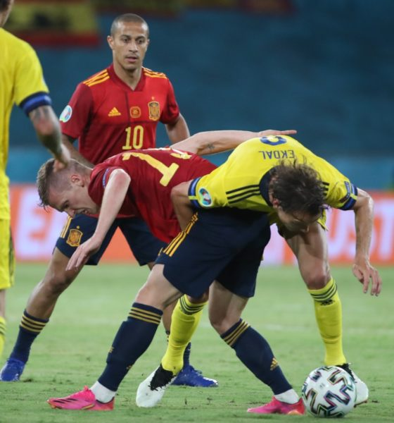 España no pudo con Suecia. Foto: Twitter