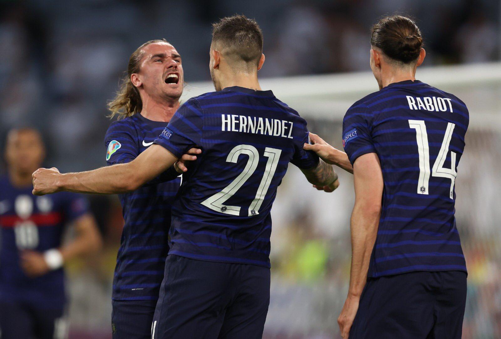 Francia le pegó a Alemania. Foto: Twitter