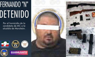 Cae presunto homicida de candidata en Guanajuato