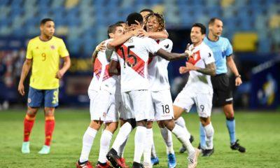 Perú le pegó a Colombia. Foto: Twitter