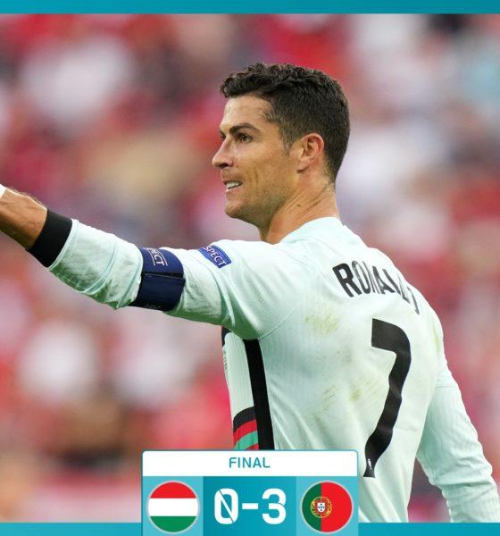 Portugal se impone a Hungría con goles de Cristiano Ronaldo. Foto: Twitter UEFA