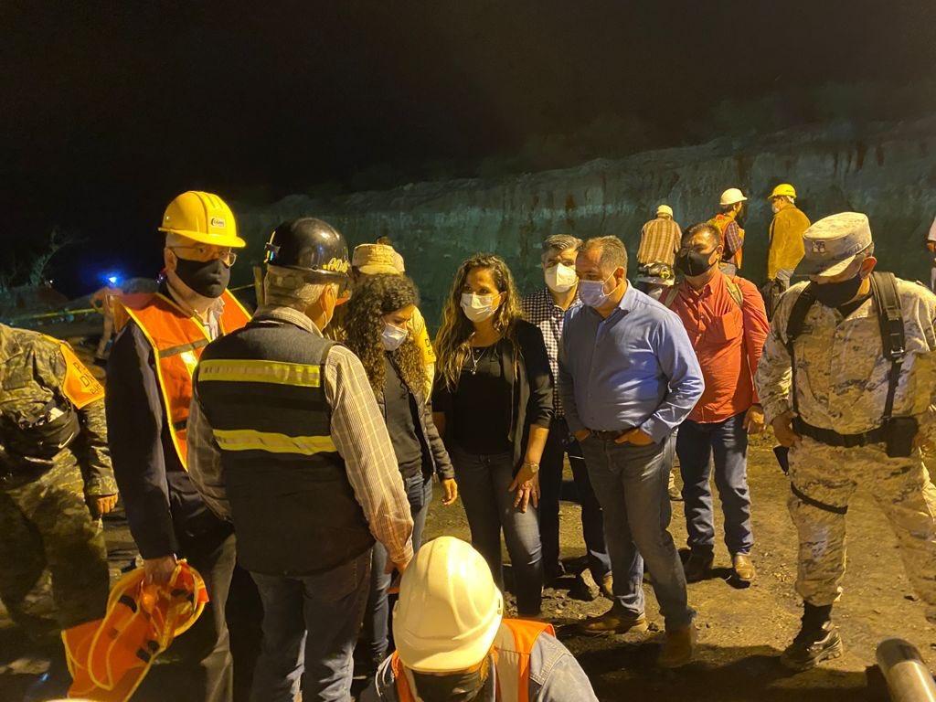 Rescatan cuerpo de trabajador tras accidente en mina. Foto: Secretaría del Trabajo