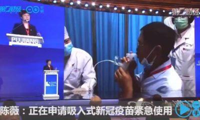 Vacuna Inhalada contra la covid. foto: Twitter