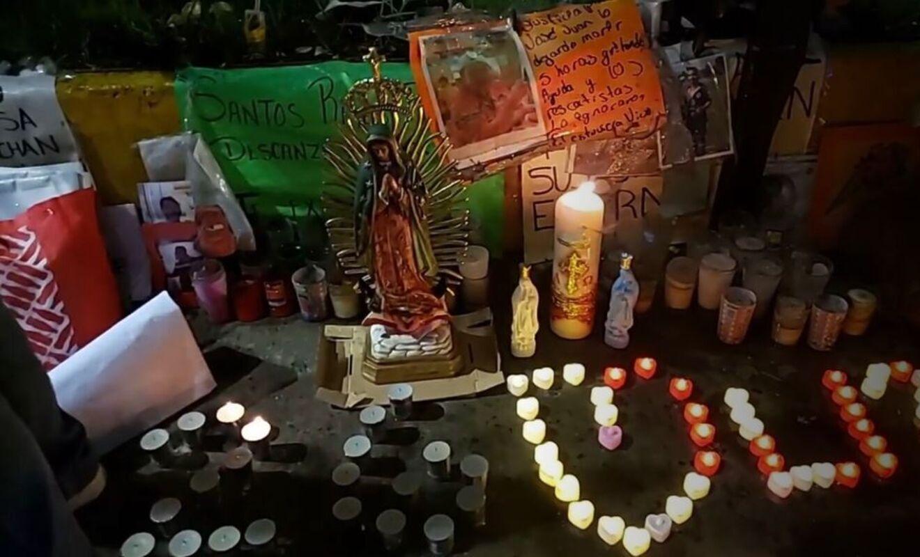 Misa por víctimas en Línea 12. Foto: Especial