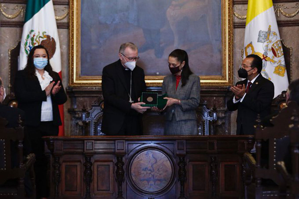 Nombran huésped distinguido de la CDMX al cardenal Pietro Parolin