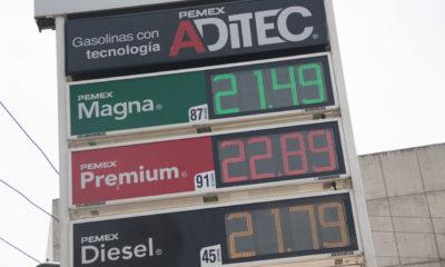 Pese a estímulos fiscales, precios de combustibles en su máximo histórico