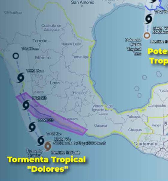 En el Océano Pacífico se formó la tormenta tropical Dolores