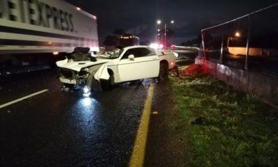 Accidente del auto de Matías Vuoso. Foto: Twitter