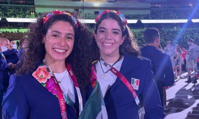 Alejandra Orozco con Gabriela Agúndez. Foto: Twitter