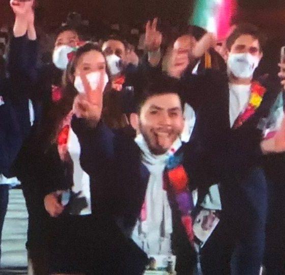 Atleta mexicano se quitó el cubrebocas durante los Juegos Olímpicos. Foto: Twitter