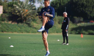 Chicharito Hernández con el Galaxy. Foto: Twitter