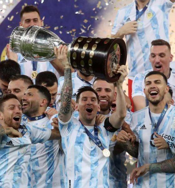 El sufrimiento de Lionel Messi para conquistar el título de Copa América. Foto: Twitter