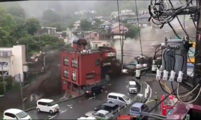 Graves lluvias en Japón. Foto: Twitter