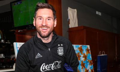Lionel Messi con Argentina. Foto: Twitter