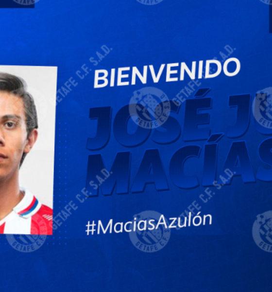 Macías nuevo jugador del Getafe. Foto: Twitter