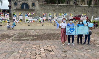 Manifestaciones de Provida en Hidalgo contra diputados de Morena. Foto Twitter