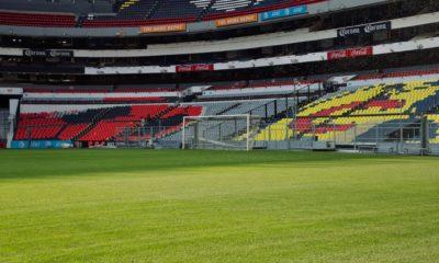 Partidos a puerta cerrada por la Covid. Foto: Twitter Estadio Azteca