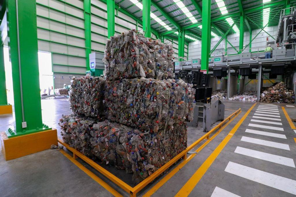 Sheinbaum encabeza apertura de planta de reciclaje. Foto: Twitter
