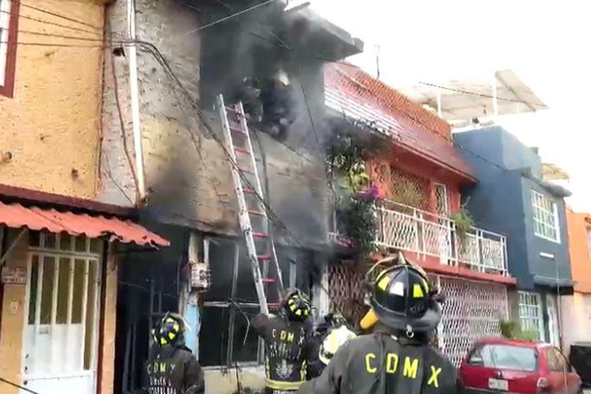 Explosión en vivienda de Iztapalapa deja 5 lesionados