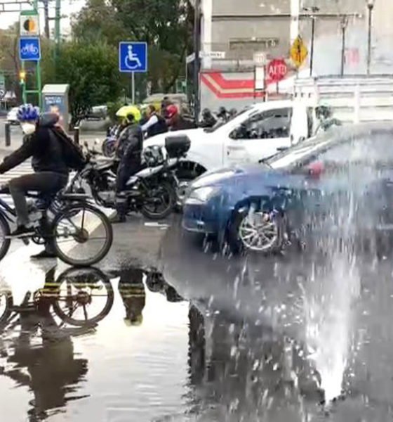 Reportan fuga de agua en alcaldía Cuauhtémoc; se reparó hace un año
