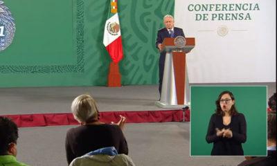 """Con un """"que les vaya muy bien"""", el presidente Andrés Manuel López Obrador deseó éxito a los atletas mexicanos que participan en los Juegos Olímpicos."""