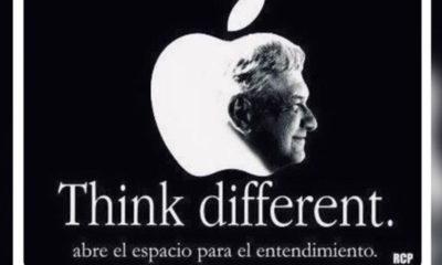 Morena usa logo de Apple con imagen de AMLO; borran el tuit