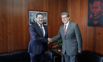 Reaparecen juntos Ricardo Monreal y Martí Batres